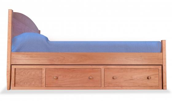 Shaker Bed with Vanity Storage