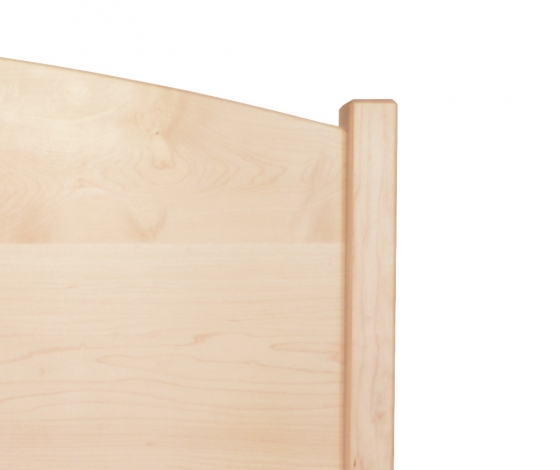 Shakermoon Bed Queen-Maple Detail 1