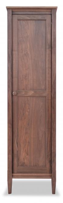Bookcase with Mirrored Door Shaker Walnut