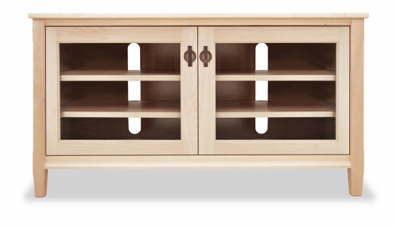 TV Console 1 with Glass Doors Shaker Maple