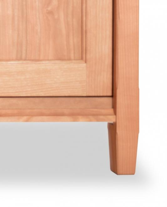 TV Console 2 Cherry Shaker wood doors detail 3