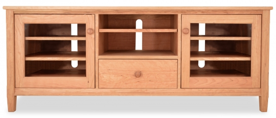 TV Console 2 Shaker with Drawer and Doors Cherry