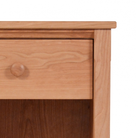 1 Drawer Nightstand Shaker Cherry Detail 1