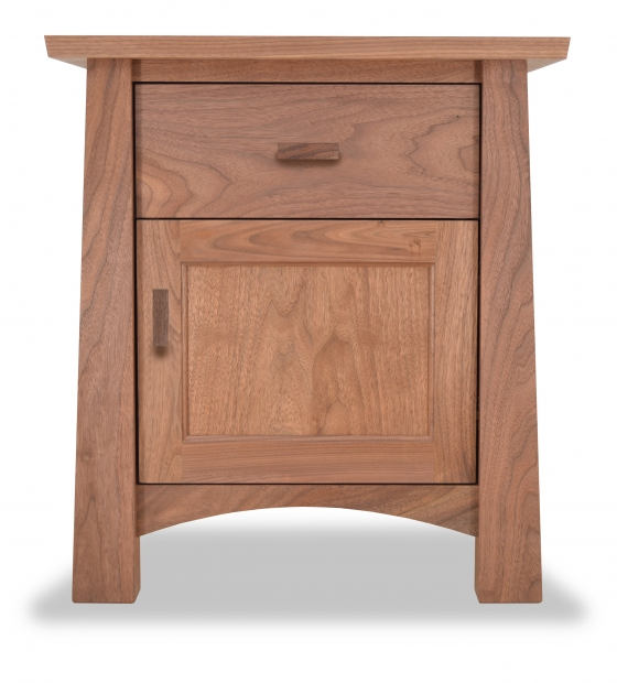 Nightstand 1 drawer Gamble Walnut