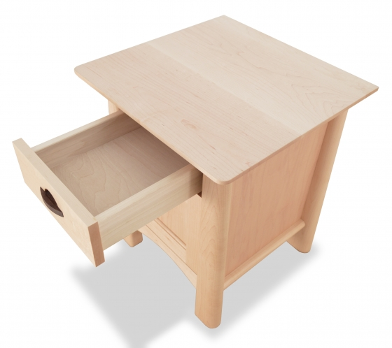 Nightstand Harvestmoon Maple with drawer open
