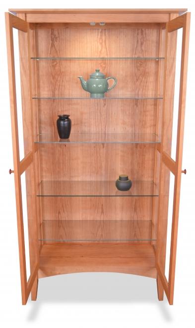 Curio Cabinet Cherry open