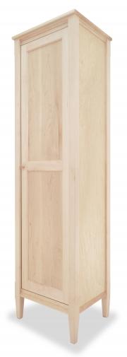 Bookcase Mirrored Door Shaker Maple angle