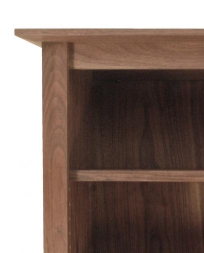 Canterbury Bookcase 2 Walnut detail 2