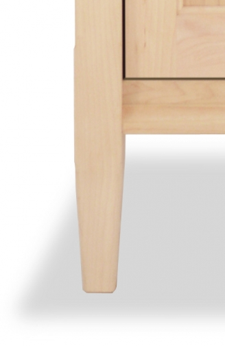 Bookcase Mirrored Shaker Maple detail
