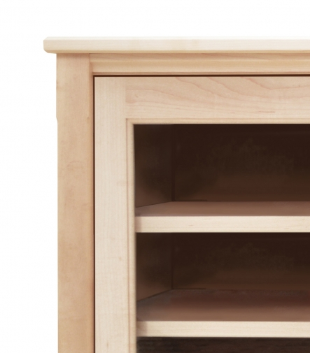 TV Console 1 with Glass Doors Shaker Maple detail 1