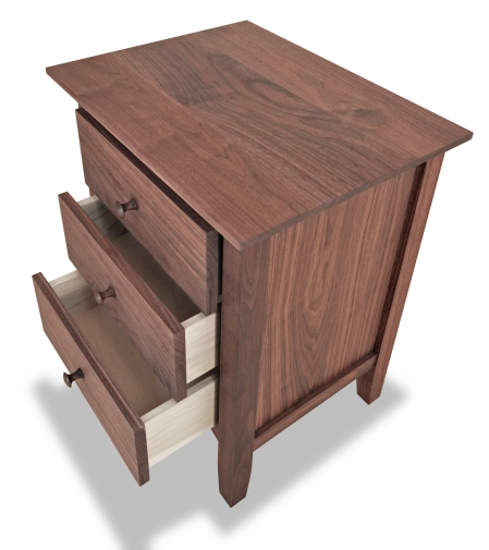 Nightstand 3 Drawer Canterbury Walnut detail 2