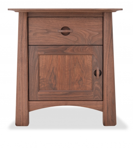 Nightstand Harvestmoon Walnut 1 drawer and door