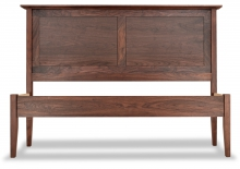 Panel Bed Walnut Canterbury straight footboard