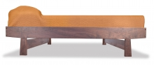 Contemporary Dovetail Bed Walnut side view