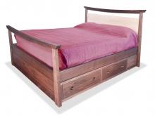 Bed Pagoda Vanity Panel walnut