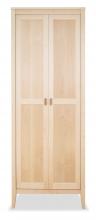 Bookcase 4 Horizon Maple with wood doors