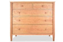 "Chest 5 Drawer 46"" Wide Shaker Cherry"