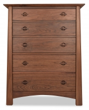 Chest  5 Drawer Harvestmoon Walnut