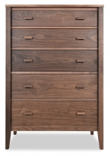 Chest 5 Drawer Horizon Walnut