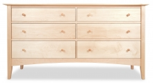 Dresser 6 Drawer Canterbury Maple