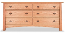 Dresser 6 Drawer Harvestmoon Cherry