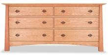 Dresser 6 Drawer Harvestmoon Cherry