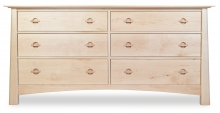 Dresser 6 Drawer Harvestmoon Maple