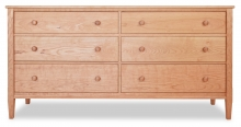 Dresser 6 Drawer Shaker Cherry