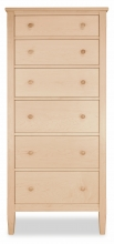 Lingerie Chest 6 Drawer Shaker Maple