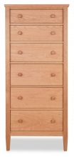 Lingerie Chest 6 Drawer Shaker Cherry