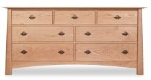 Dresser 7 Drawer Harvestmoon Cherry