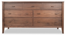 Dresser 7 Drawer Horizon Walnut