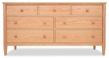 Dresser 7 Drawer Shaker Cherry