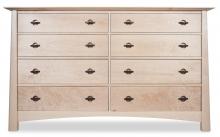 Dresser 8 Drawer Harvestmoon Maple