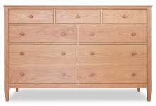 Dresser 9 Drawer Shaker Cherry