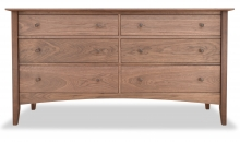 Dresser 6 Drawer Canterbury Walnut