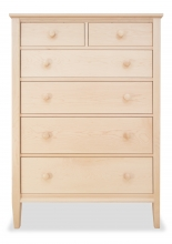 Chest 6 Drawer Shaker Maple