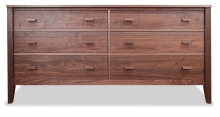 Dresser 6 Drawer Horizon Walnut
