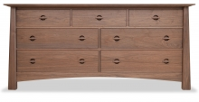 Dresser 7 Drawer Harvestmoon Walnut