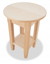 End Table Shaker maple down view