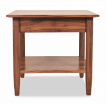 End Table Shaker with Shelf-Walnut