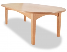 Oval Coffee Table Canterbury Cherry angle
