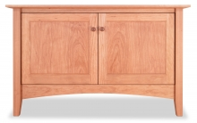 TV Console 1 Canterbury with Doors Cherry