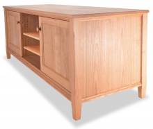 TV Console 2 Cherry Shaker angle wood doors