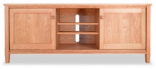 TV Console 2 Shaker Cherry wood doors