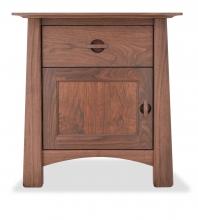 Nightstand Harvestmoon Walnut 1 drawer and door