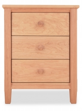 Nightstand 3 Drawer Shaker Cherry