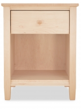 Nightstand Shaker One Drawer Maple