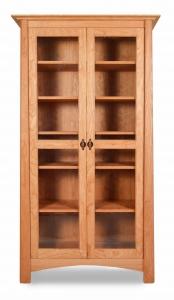 """Harvestmoon Bookcase-72"""" H / Doors"""
