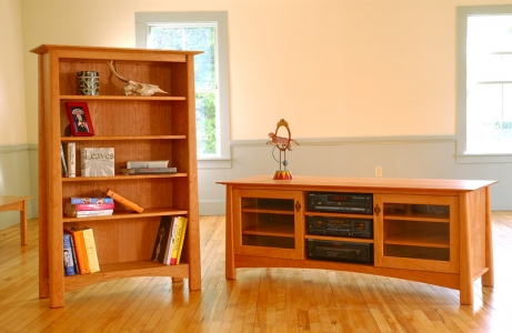 TV console and bookcase